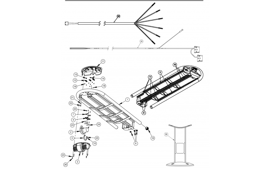 Options Ball Rack Assembly, Leg Assembly