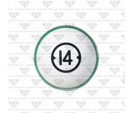 033888146 Прокатный шар Billiard Style House Ball 14 Ibs. XL White green