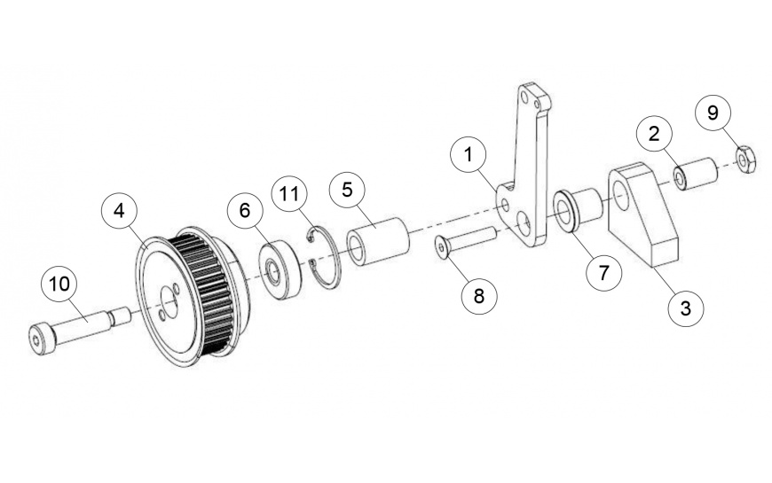 Right Hand Buffer Mounting Assembly